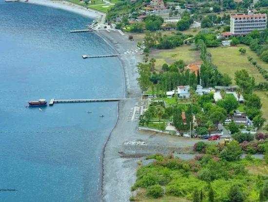 Marmaris,Die Für Den Verkauf Gebaut Auf Einem Grundstück Von 5000 M2 E 18 Km Entfernt Von Der Villa Und Dem Bestehenden Pier Restaurant