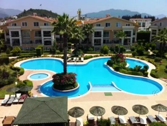 Luxury Duplex Apartment For Sale In Site With Swimming Pool In The Centre Of Marmaris