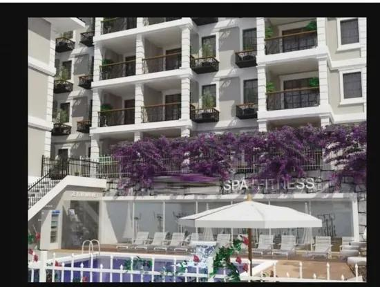 2 Rooms 1 Living Room Apartment For Sale In Fethiye With Swimming Pool