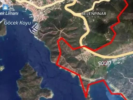 Tourism In Fethiye Inlice Land Near The Sea In The Neighborhood Of 10000 M2 Plot For Sale