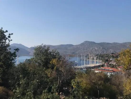 Bozburun Villa With Sea Views In The Village Of 1149 M2 Land For Sale Can Be Done 2