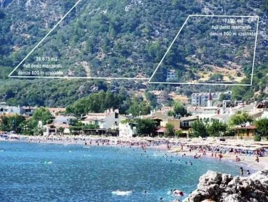 20000M2 Plot With Sea Views For Sale Land 18 Km Away From Marmaris