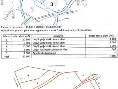 Marmaris Turunç  Bölgesinde Satılık Arsa 52000M2