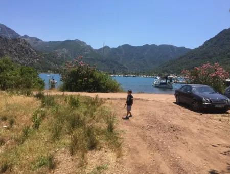 Marmaris Orhaniye Köyünde Denize Sıfır 1250M2 Yatırım İçin Uygun Satılık Arsa